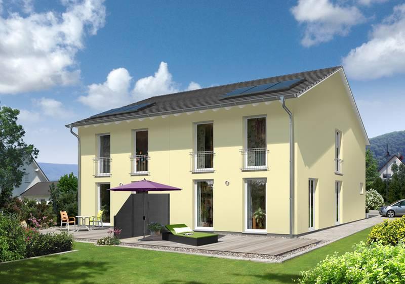 Neu: Schlankes Doppelhaus für kleine Grundstücke – Das Doppelhaus Aura 125