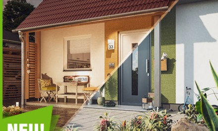 Die neuen Vordächer & Putzstruktur von Town & Country Haus